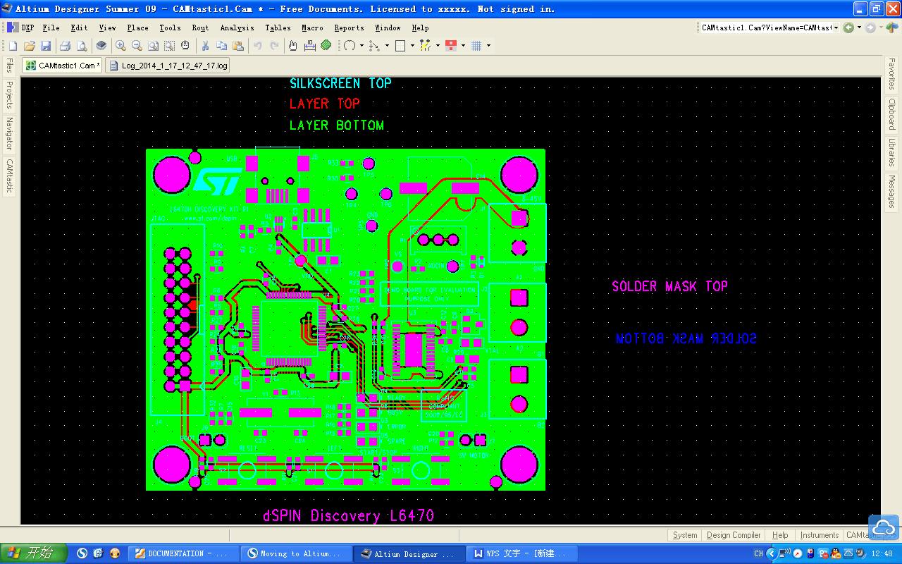 PCB gerber file